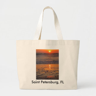 Sunset on Saint Pete Beach Jumbo Tote Bag