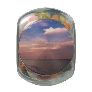 Sunset on Sanibel Island Glass Candy Jar