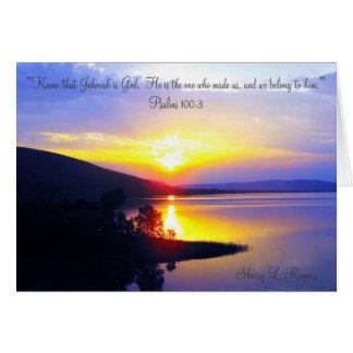 """""""Sunset on Sardis Lake"""" Card"""