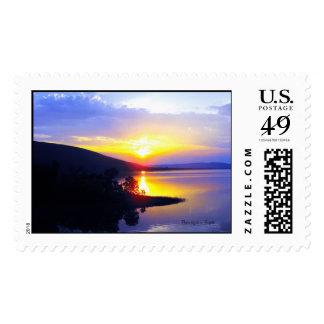 Sunset on Sardis Lake Postage Stamp