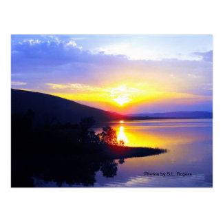 Sunset on Sardis Lake Postcard