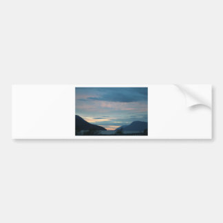 Sunset On Seward Highway Alaska Bumper Sticker