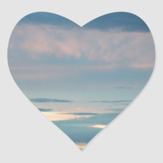 Sunset On Seward Highway Alaska Heart Sticker