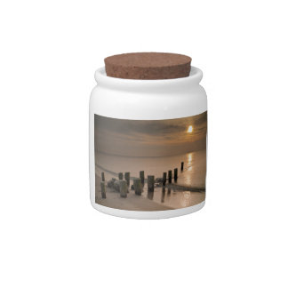 Sunset on shore of the Baltic Sea Candy Jar