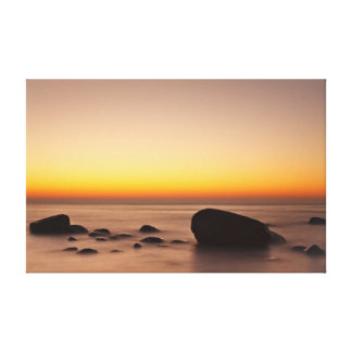 Sunset on shore of the Baltic Sea Canvas Print