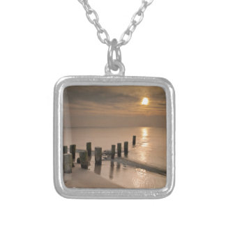 Sunset on shore of the Baltic Sea Custom Necklace