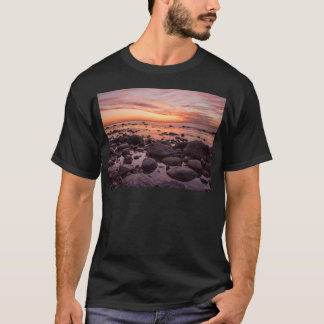 Sunset on shore of the Baltic Sea T-Shirt