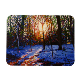 Sunset on snow 2010 magnet