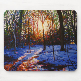 Sunset on snow 2010 mouse pad