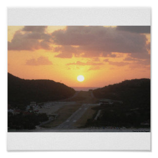 Sunset on St. Barth Poster