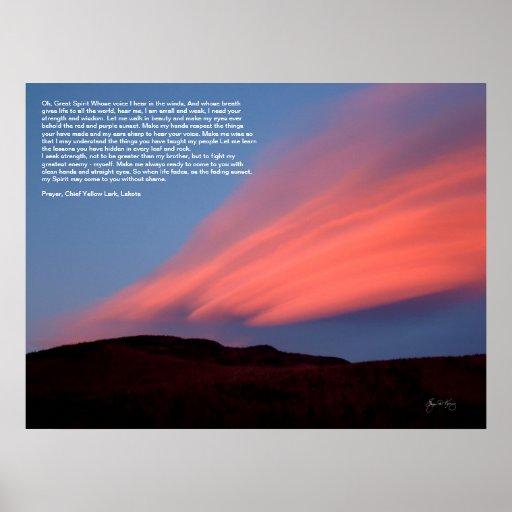 Sunset on Stinson Mountain Poster