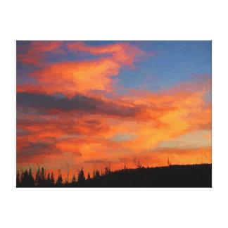 Sunset on Swan Lake Canvas Print