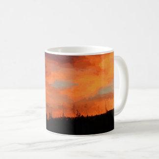 Sunset on Swan Lake Coffee Mug