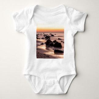 Sunset on the Baltic Sea coast Baby Bodysuit