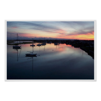 Sunset on the Bass River Poster