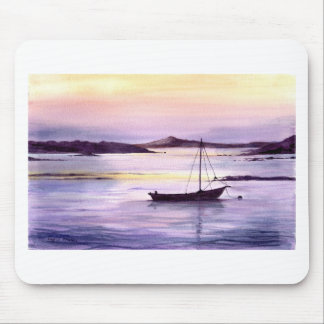 Sunset on the bay mouse pad
