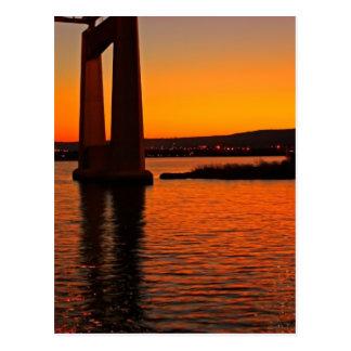 Sunset on the Bay Postcard