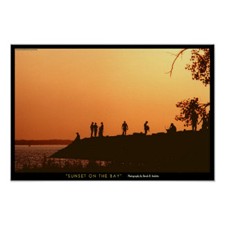 Sunset on the Bay Poster