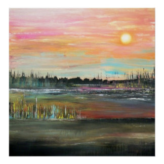 Sunset on the Bayou Poster