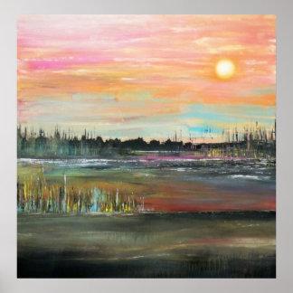 Sunset on the Bayou Print