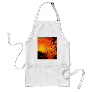 Sunset on the beach apron