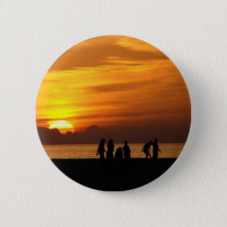 Sunset On The Beach Pinback Button