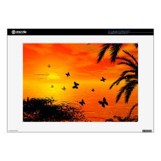 "Sunset on the beach skins for 15"" laptops"