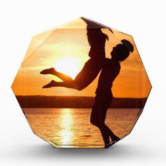 Sunset on the Beach With Couple Love Award