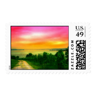 Sunset on the Bodensee Postage Stamps
