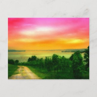 Sunset on the Bodensee postcard