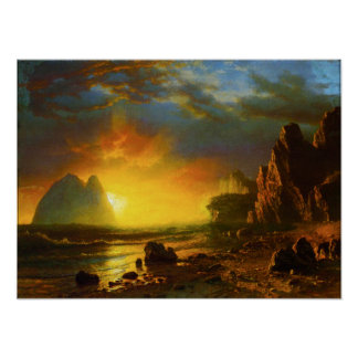Sunset on the California Coast Poster