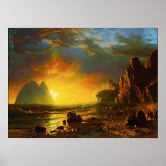 Sunset on the California Coast Poster