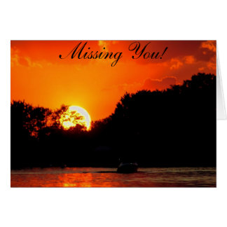 Sunset on the Chain of Lakes Card