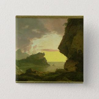 Sunset on the Coast near Naples, c.1785-90 Button