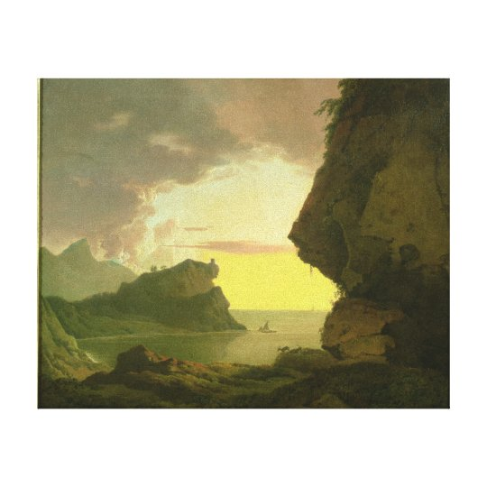 Sunset on the Coast near Naples, c.1785-90 Canvas Print
