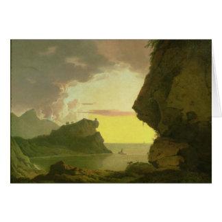 Sunset on the Coast near Naples, c.1785-90 Card