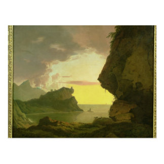 Sunset on the Coast near Naples, c.1785-90 Postcard