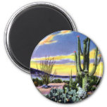 Sunset on the Desert in New Mexico Magnets