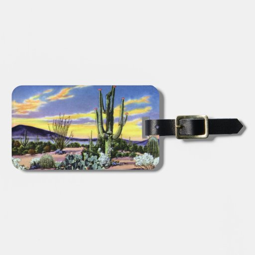 Sunset on the Desert in New Mexico Travel Bag Tag