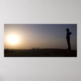 Sunset on the Desert Poster