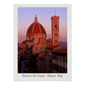 Sunset on the Duomo Poster