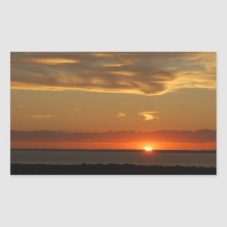 Sunset on the East Coast Rectangular Sticker