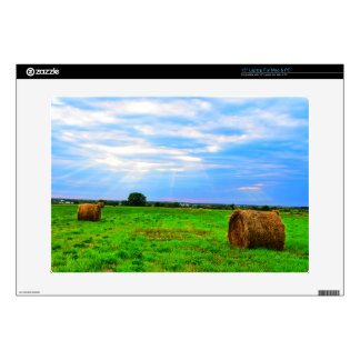 sunset on the farm laptop skin 15 inch