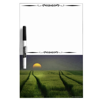 Sunset On The Field Decorative Whiteboard Dry-Erase Boards