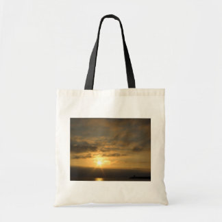 Sunset on the french coast of atlantic ocean canvas bags