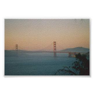 Sunset on the Golden Gate Bridge Poster