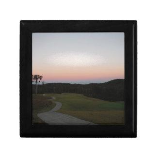 Sunset on the Golf course at Lake Arrowhead Keepsake Box