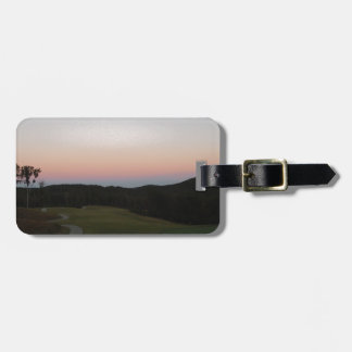 Sunset on the Golf course at Lake Arrowhead Travel Bag Tags