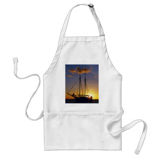 Sunset on the Great Barrier Reef Adult Apron