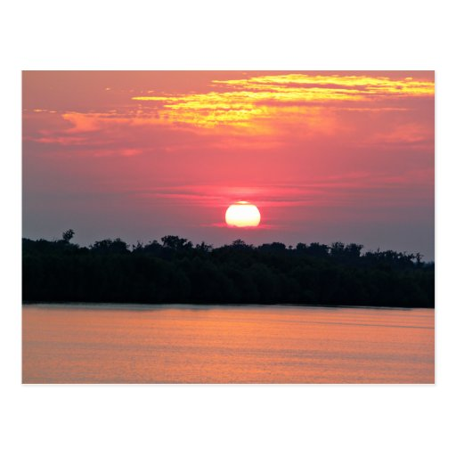 Sunset on the Gulf of Mexico Post Cards